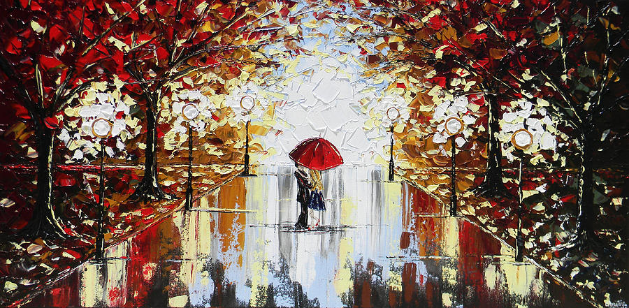 a dance in the rain painting by christine krainock. Black Bedroom Furniture Sets. Home Design Ideas