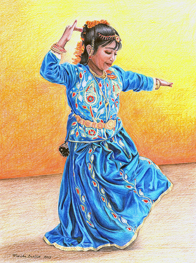 Colored Pencil Drawing Drawing - A Dancer by Noriko DeWitt