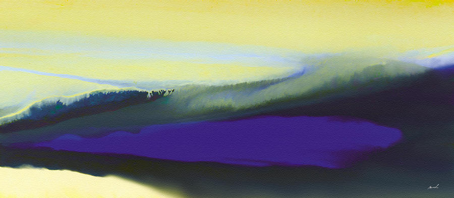 Violet Painting - A Dark Momentum by The Art of Marsha Charlebois