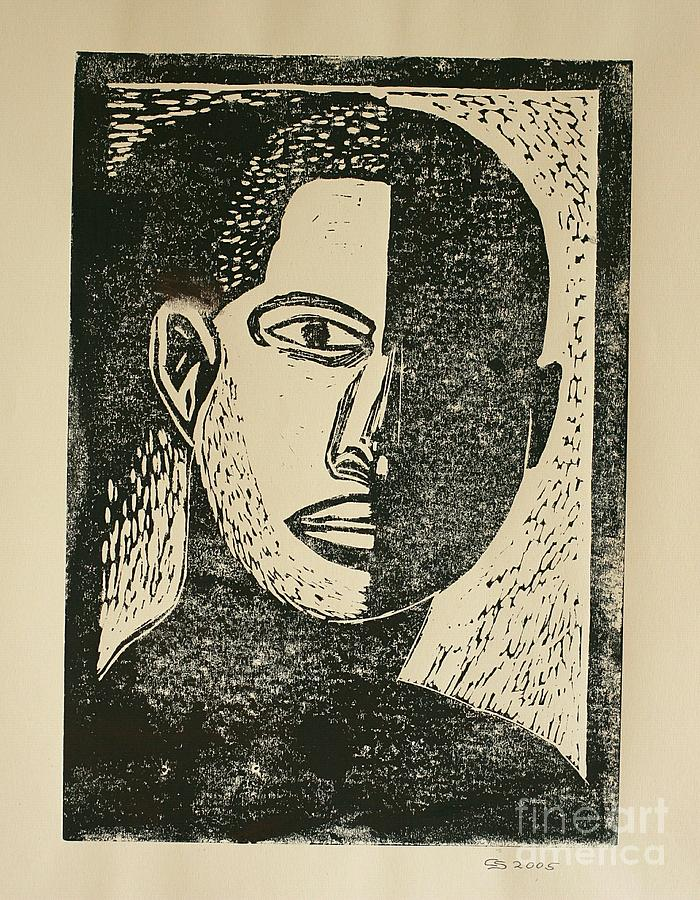 Lino Cut Mixed Media - A Dark Side by Christiane Schulze Art And Photography