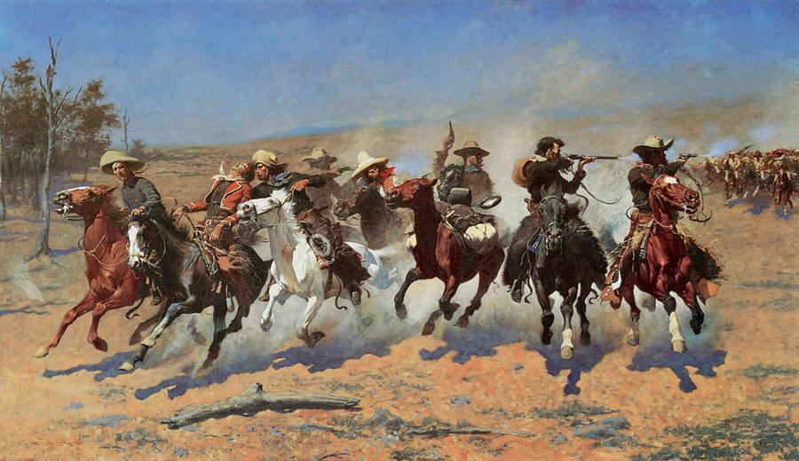 Frederic Remington Painting - A Dash For The Timbers by Frederic Remington