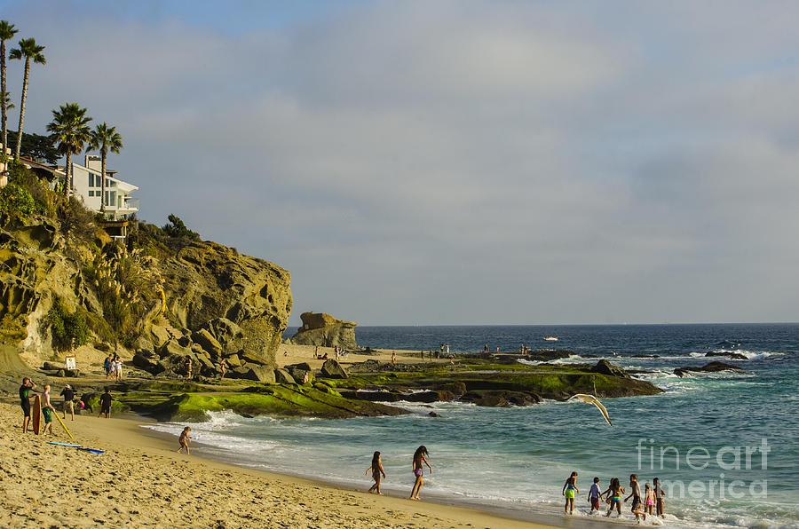 Beach Photograph - A Day At The Beach by Deborah Smolinske