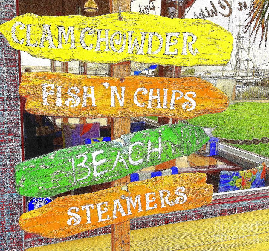 Signs Photograph - A Day At The Beach by Kris Hiemstra