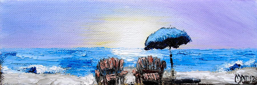 Beach Painting - A Day At The Beach by Melissa Torres
