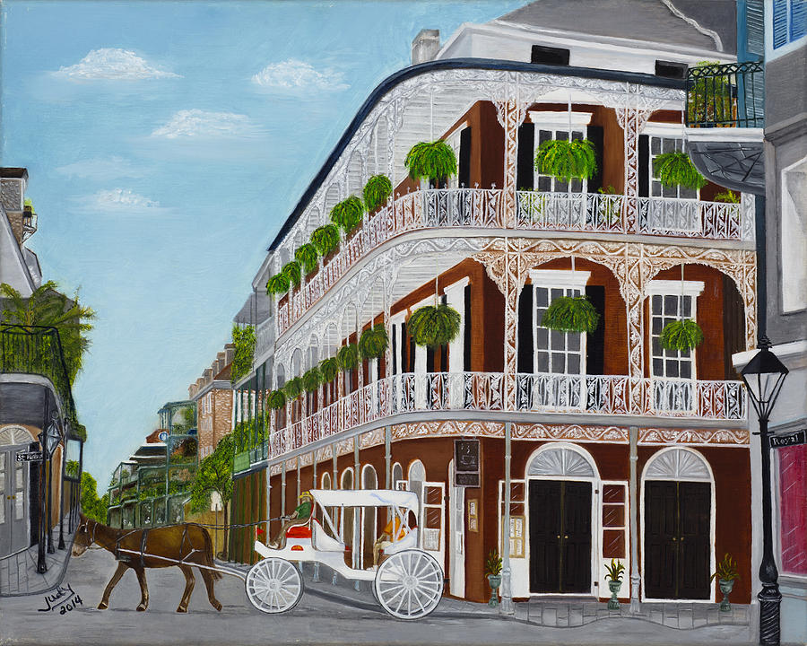 A Carriage Ride In The French Quarter Painting