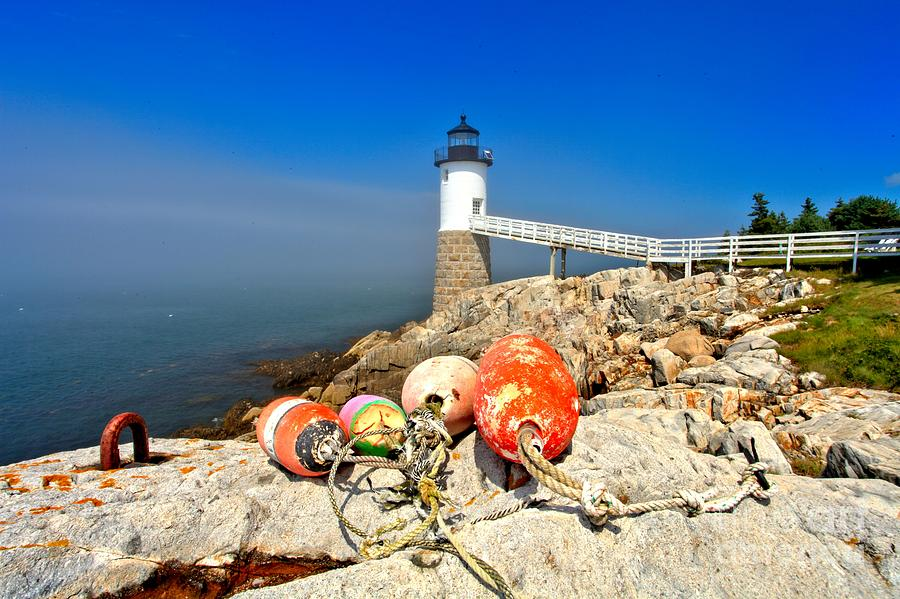 Maine Lighthouse Photograph - A Day Off by Adam Jewell