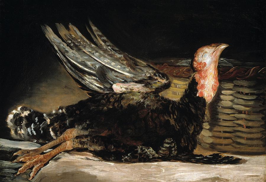 A Dead Turkey Painting By Francisco Goya - Francisco goya paintings