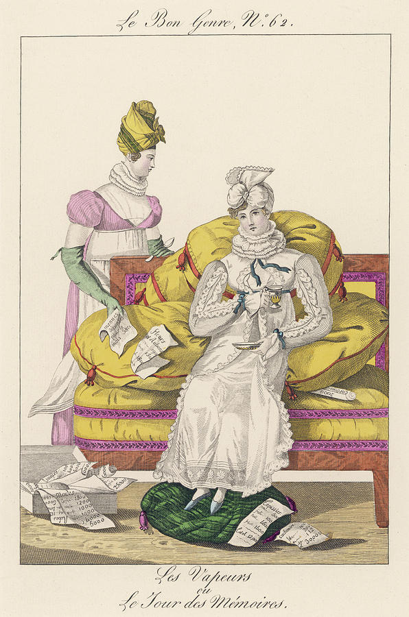 Lady Drawing - A Dejected Lady Seeks Comfort by Mary Evans Picture Library