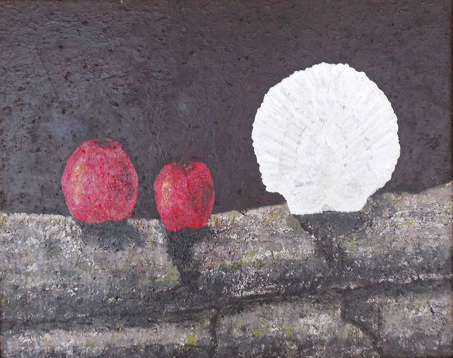Red Painting - A Delightful Blend Of Apples And Scalloped  by Don Williams