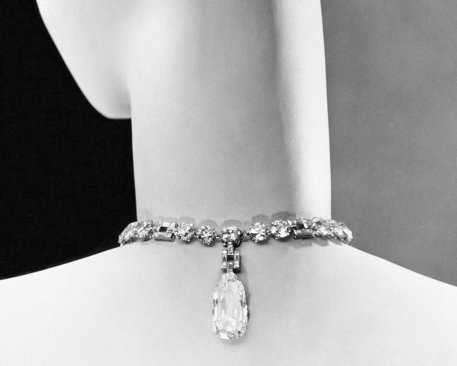 A Diamond Necklace By Cartier Photograph by George Hoyningen-Huene