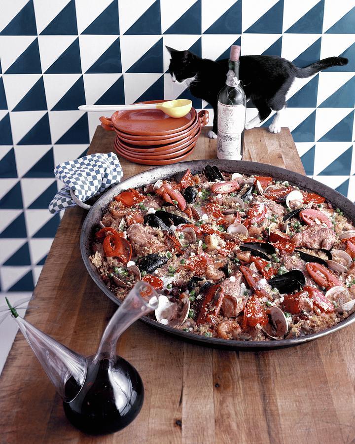 A Dish Of Paella Photograph by Richard Rutledge