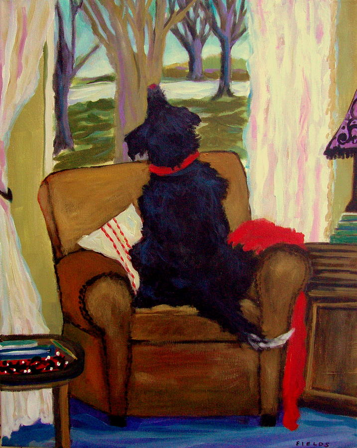 Dog Painting - A Dogs View by Karen Fields