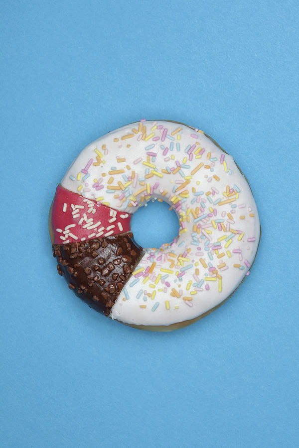 A Donut Made From Different Pieces Photograph by Fstop Images - Larry Washburn