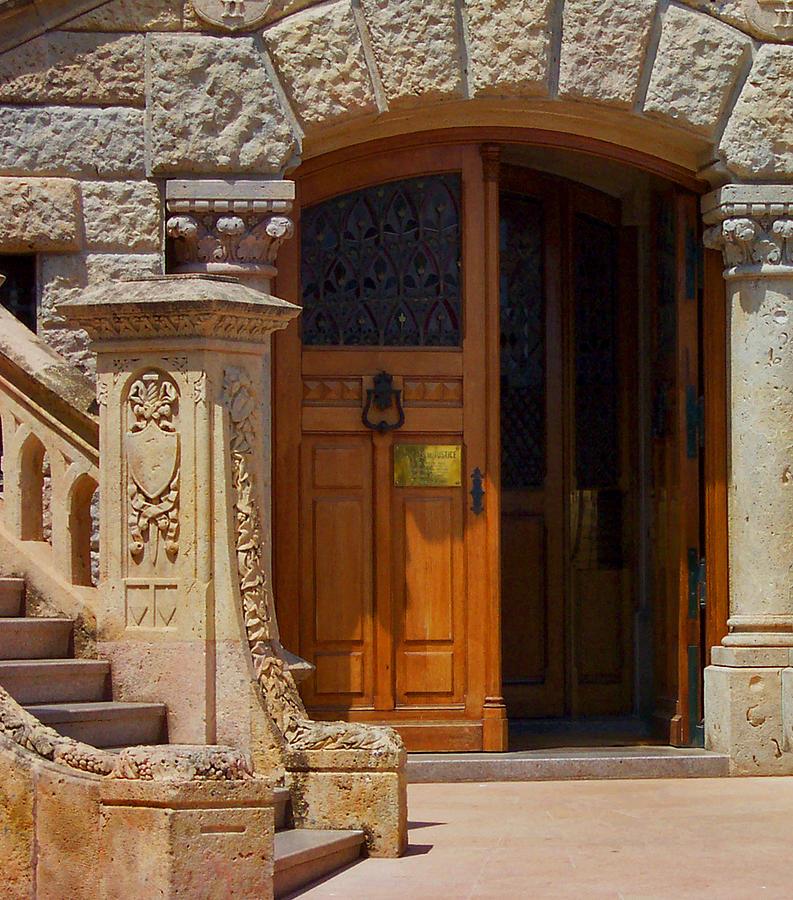 Stone Photograph - A Door In Monaco by Christine Burdine