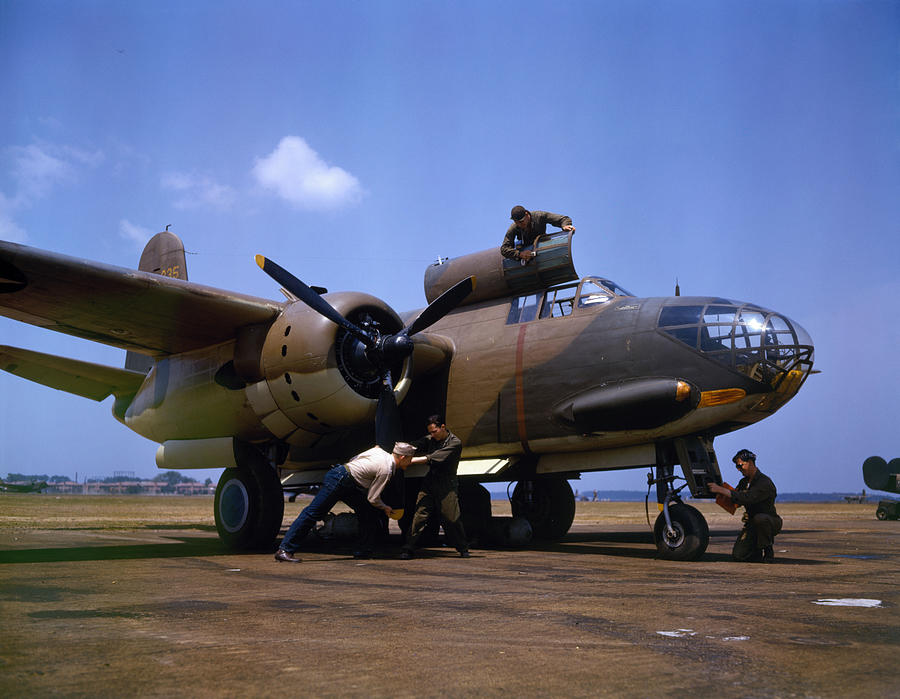 Usaf Photograph - A Douglas A-20c-bo Havoc 1942 by Celestial Images