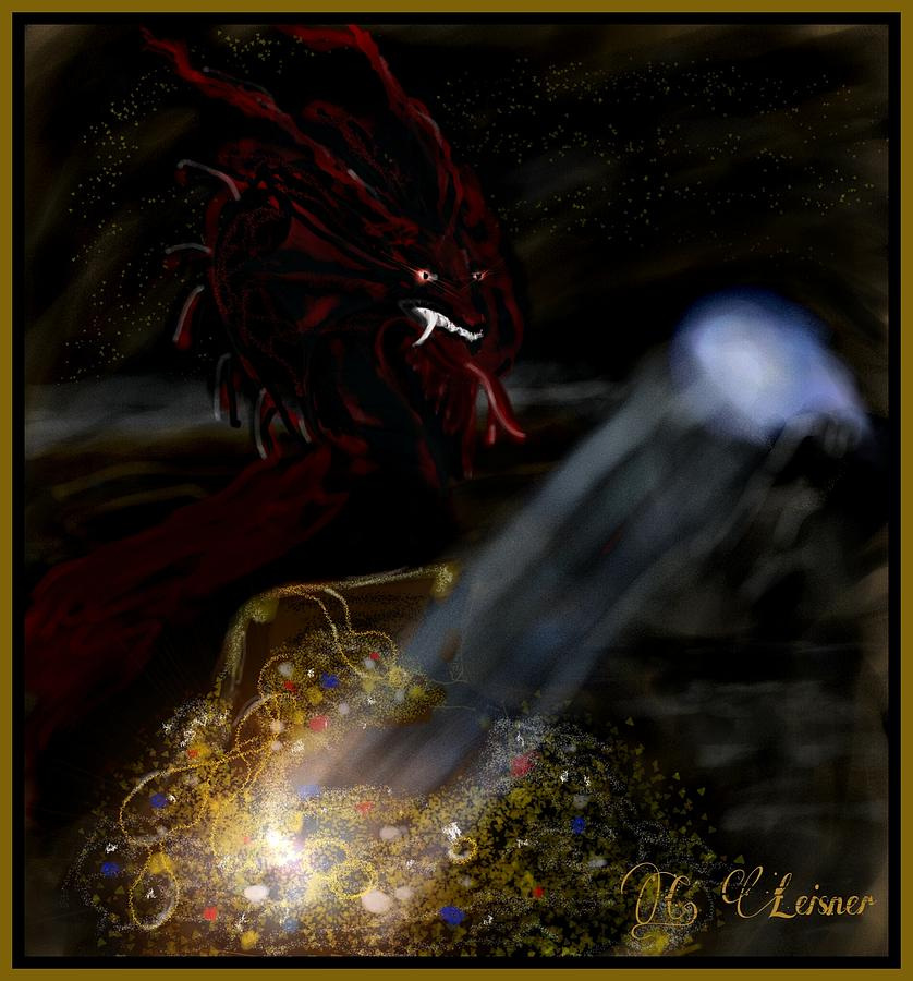 A Dragons Treasure Digital Art By Cindy Leisner