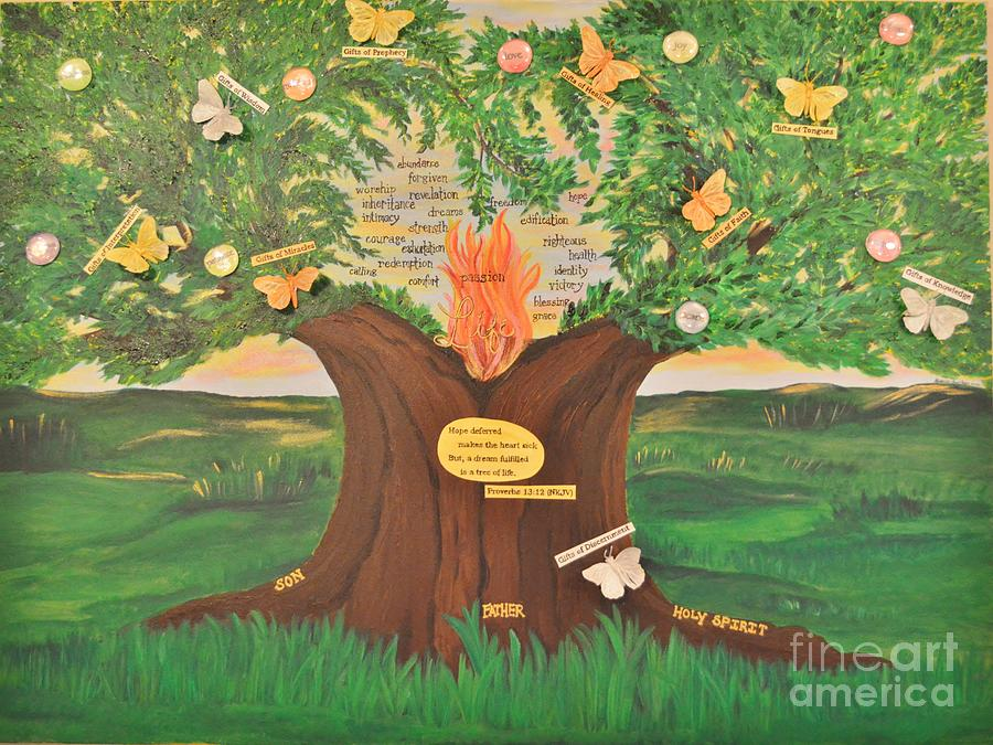 Tree Of Life Painting - A Dream Fulfilled by Michelle Bentham