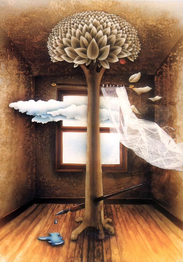 Surrealism Painting - A Dream Of Words by Jose Luis Alcover