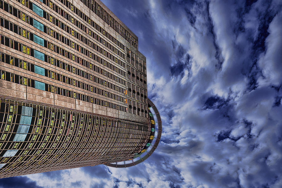 Israel Photograph - A Drifting Skyscraper by Ron Shoshani