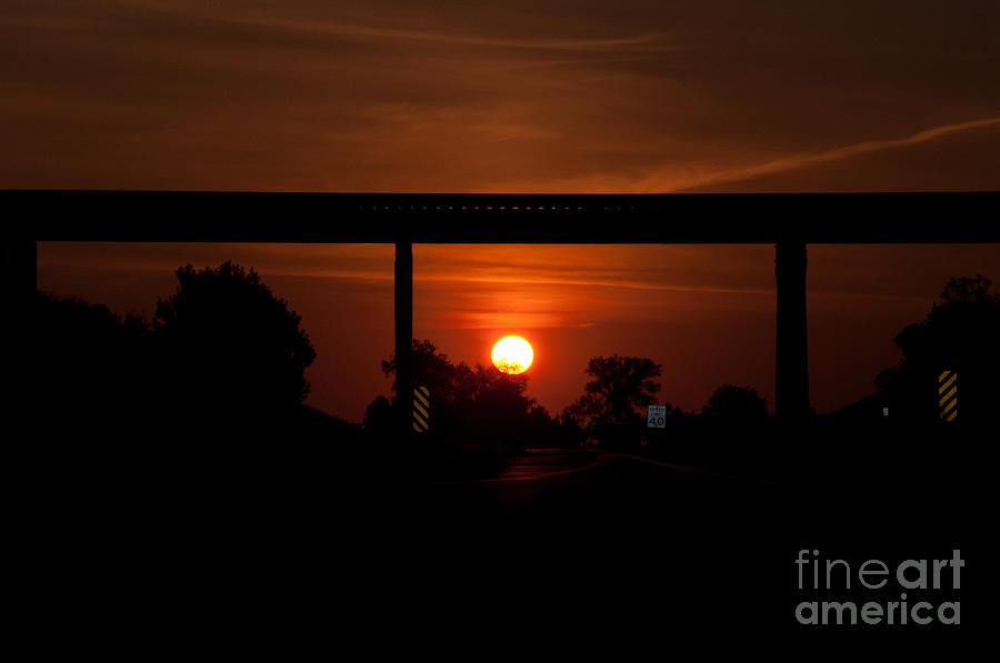 Rail Photograph - A Drivers View by Minnie Lippiatt