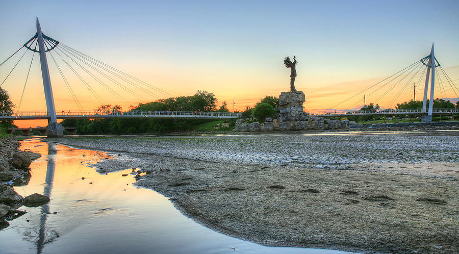 Keeper Of The Plains Photograph - A Dry Heat In Wichita Kansas by JC Findley