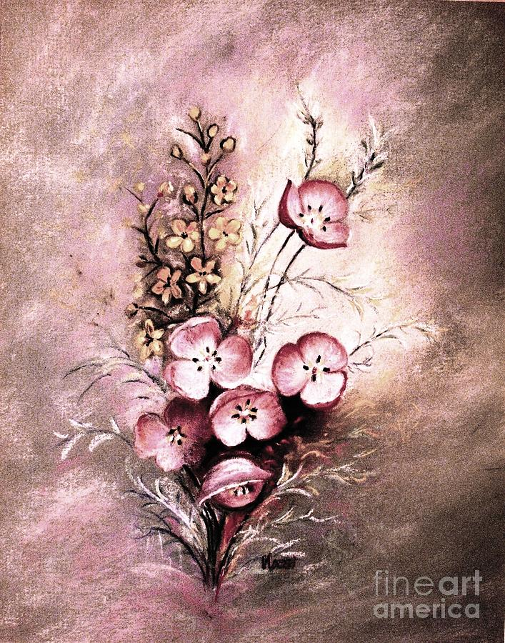 Flowers Painting - A Dusty Rose Bouquet by Hazel Holland