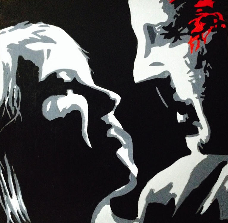 Sin City Painting - A Fair Trade by Patrick Webb