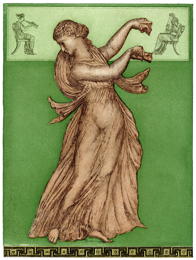 Solo Drawing - A Female Dancer Performs  Alone by Mary Evans Picture Library