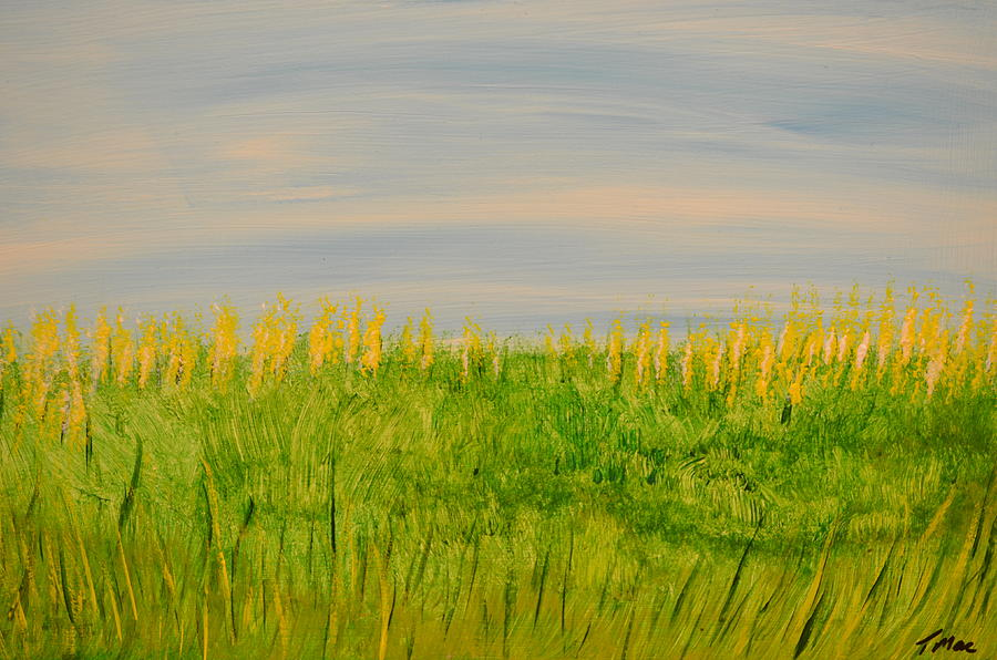 Field Painting - A Field by Teresa French McCarthy