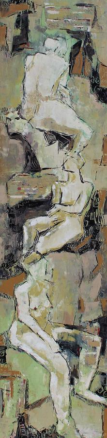 Nude Painting - A Flat Minor by Becky Kim