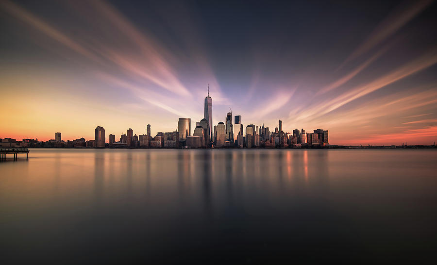 New York Photograph - A floating City by David D