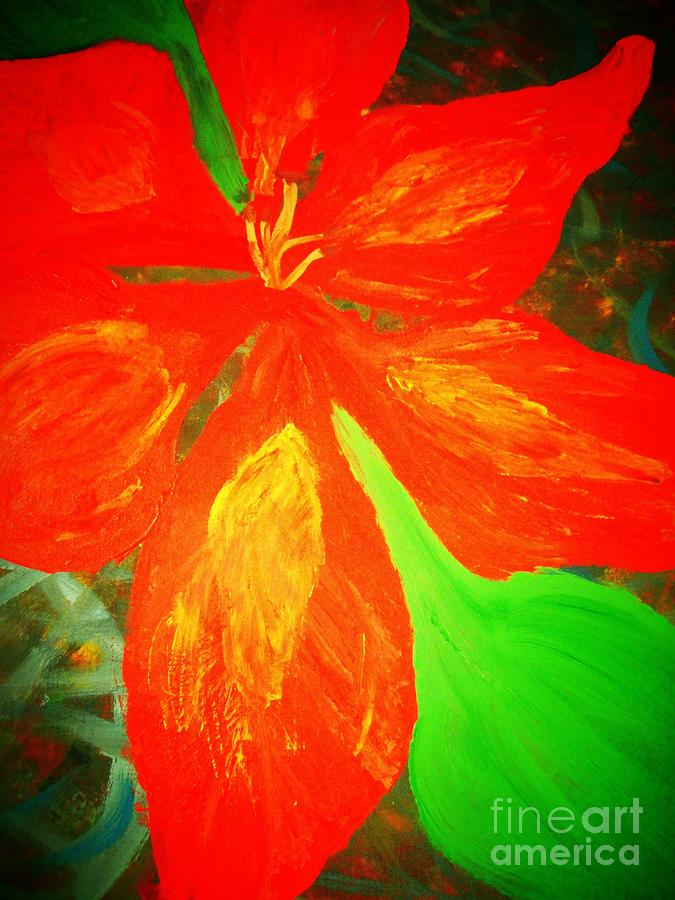 Green Mixed Media - A Flower For Love by Dori Meyers
