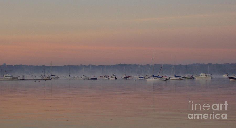 Telfer Photograph - A Foggy Fishing Day by John Telfer