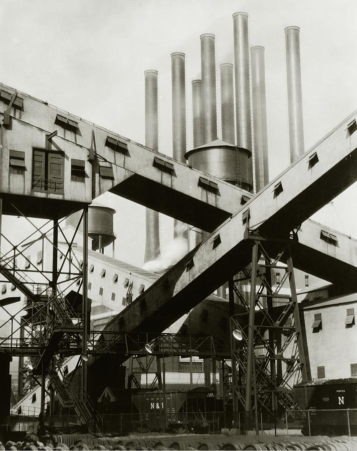 Detroit Photograph - A Ford Automobile Factory by Charles Sheeler