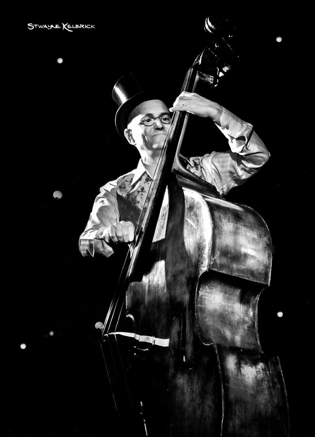 Contrabass Photograph - A french contrabass player by Stwayne Keubrick