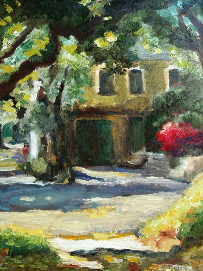Landscape Painting - A French Cottage by Sharon Franke
