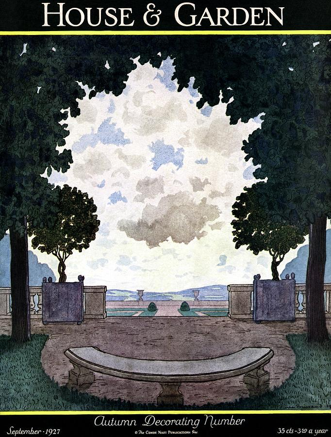 A French Formal Garden Photograph by Pierre Brissaud