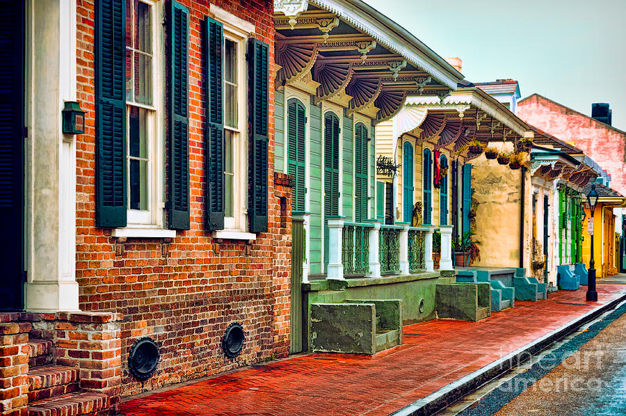 A French Quarter Street - Digital Painting Photograph