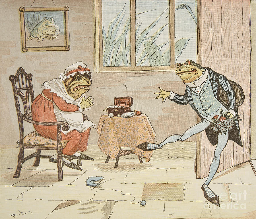 Randolph Caldecott Painting - A Frog He Would A Wooing Go by Randolph Caldecott