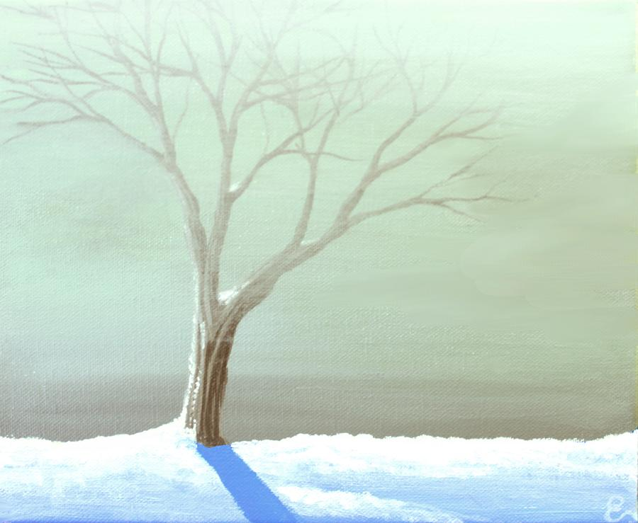 A Frosty Fog Painting by Erin Scott