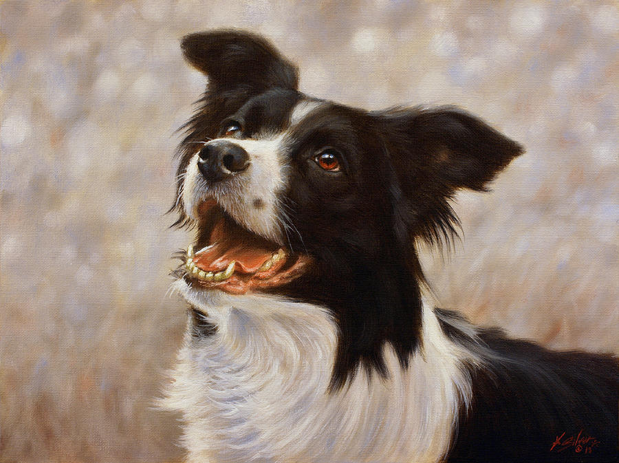 Dog Painting - A Frosty Start by John Silver