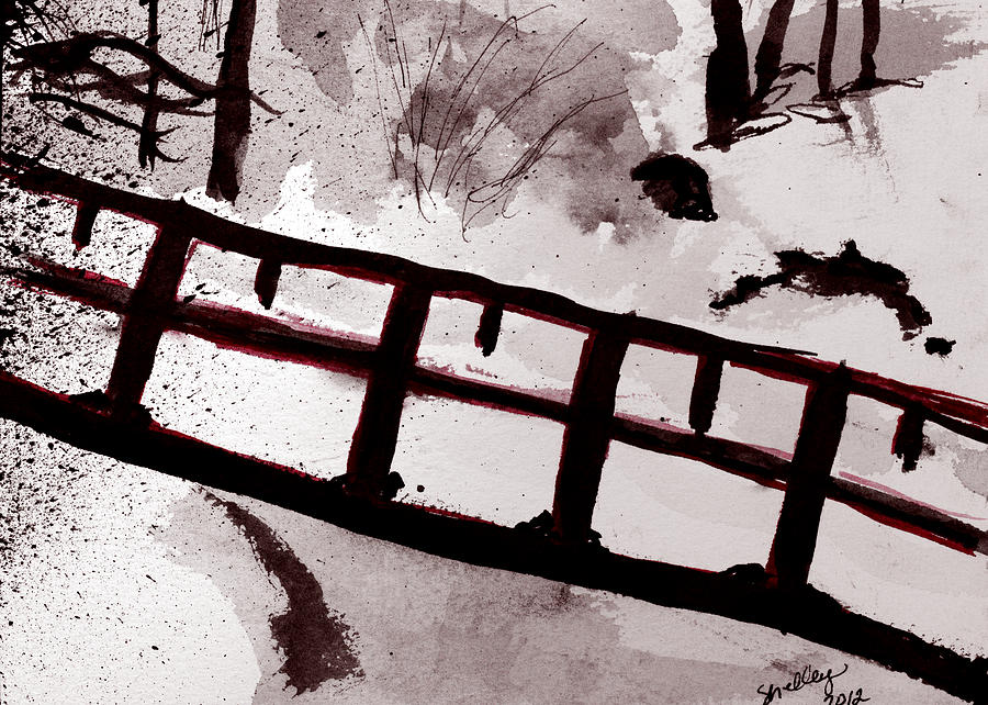 River Painting - A Frozen River by Shelley Bain