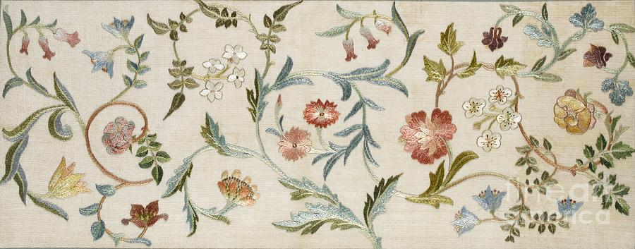 Embroidery Tapestry - Textile - A Garden Piece by May Morris