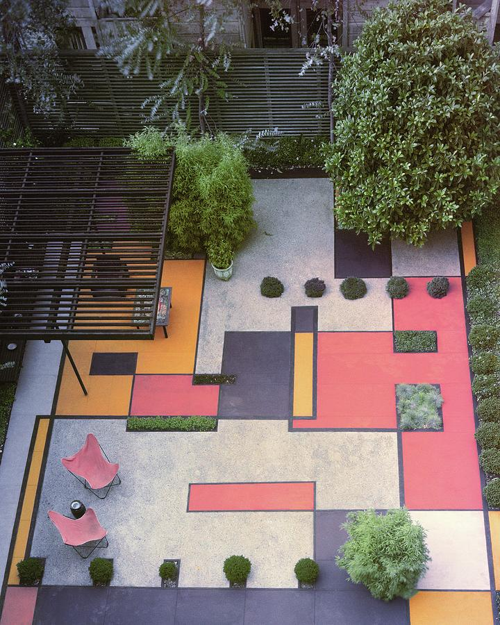 A Garden With Colourful Landscaping In Dr Photograph by Georges Braun