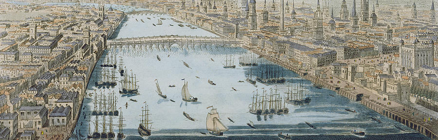 London Painting - A General View Of The City Of London And The River Thames by Thomas Bowles