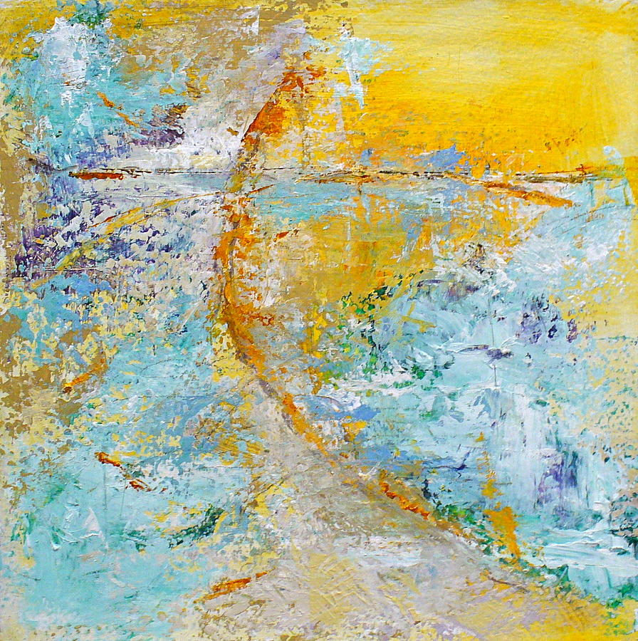 Contemporary Painting - A Gentle Convergence by Mary Sullivan