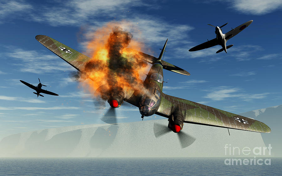 Last & First Time [Starfire] A-german-heinkel-bomber-plane-crashing-mark-stevenson