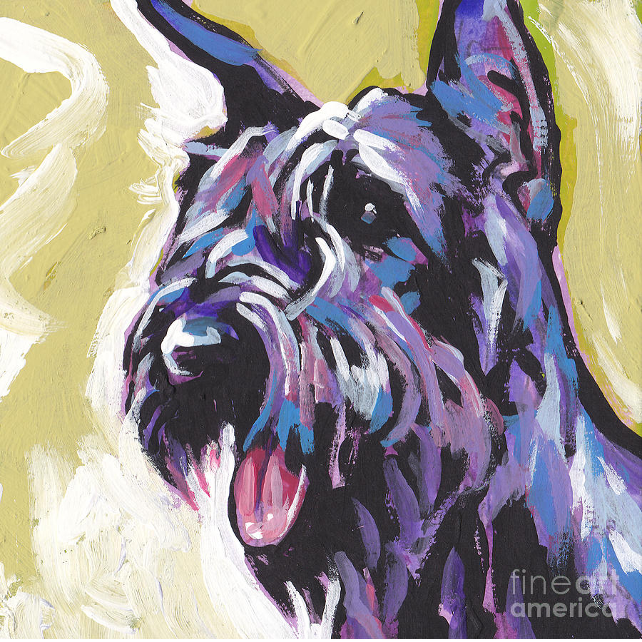 Giant Schnauzer Painting - A Giant by Lea S