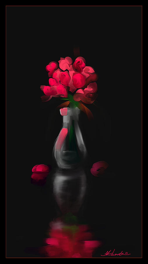 Rose Painting - A Gift For Her by Steven Lebron Langston