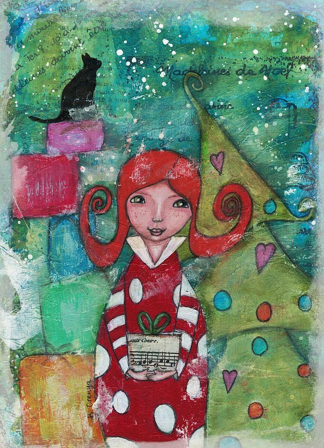 Illustration Mixed Media - A Gift For You by Barbara Orenya